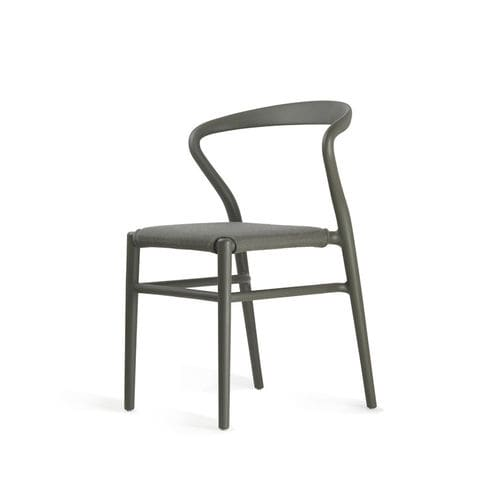 Scandinavian design dining chair / upholstered / stackable / with removable cover