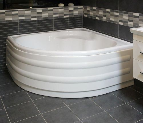 free-standing bathtub-shower combination