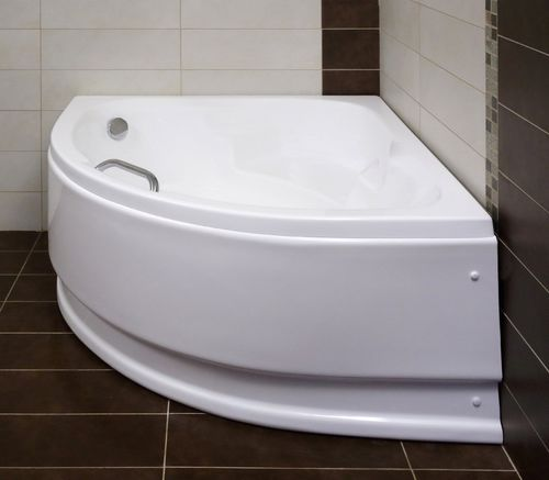 free-standing bathtub / corner / acrylic / hydromassage