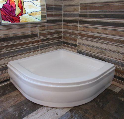 corner shower base / raised / acrylic / non-slip