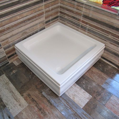 square shower base