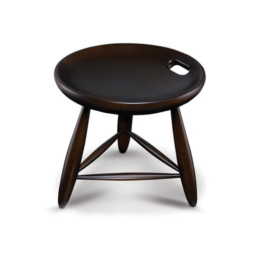 contemporary stool / solid wood / beech