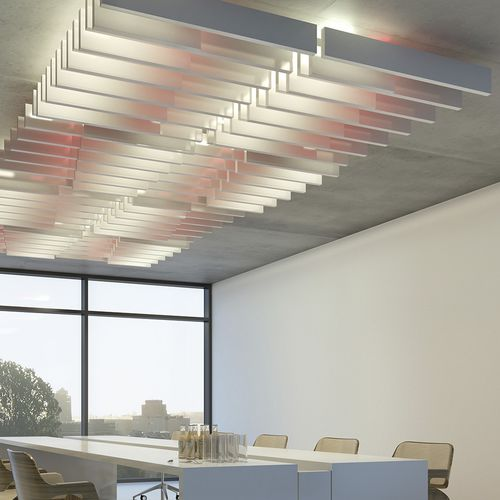 strip suspended ceiling / floating / decorative