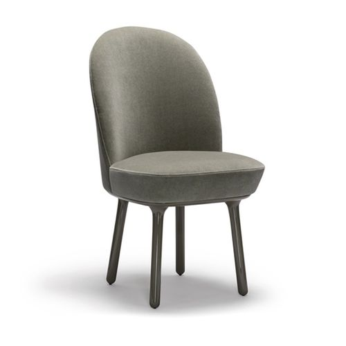 contemporary dining chair / upholstered / fabric / leather