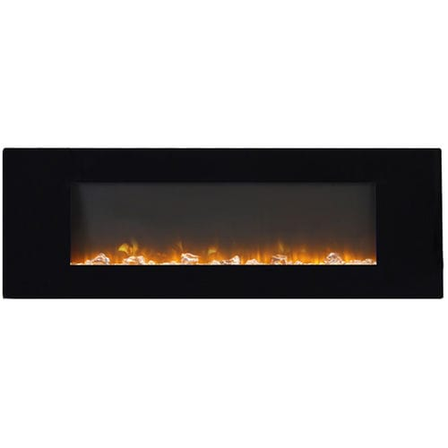 electric fireplace / contemporary / closed hearth / hanging