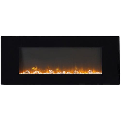 electric fireplace / contemporary / open hearth / hanging