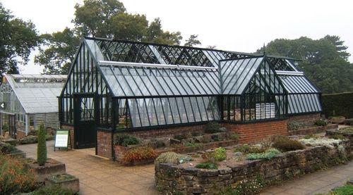 gardening greenhouse / even-span / aluminum frame