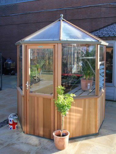 gardening greenhouse / even-span / aluminum frame / wood frame