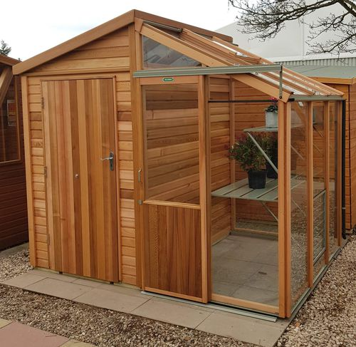 gardening greenhouse / even-span / wood frame / with gutter
