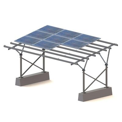 carport with integrated photovoltaic panel