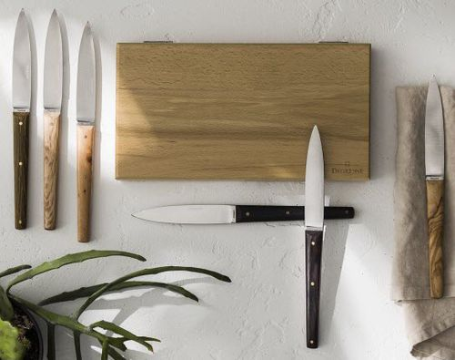 steak knife with stainless steel blade