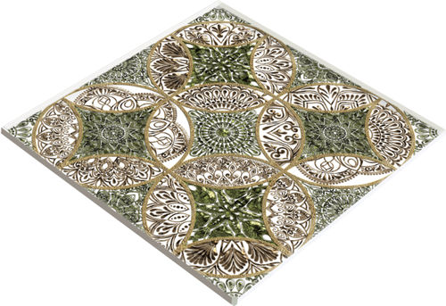 cover decorative panel / glass / for doors / for floors