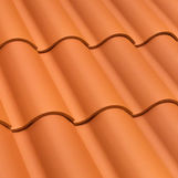 pan roof tile / clay / red / brown
