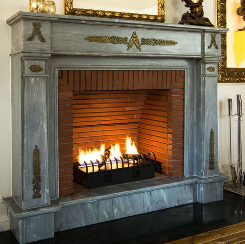 Gas Fireplace Hot Box Cheminée Sur, Open Gas Fireplace Indoor