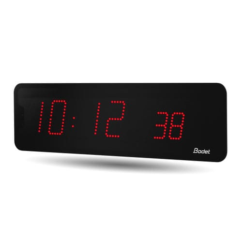 contemporary clock / digital / wall-mounted / LED