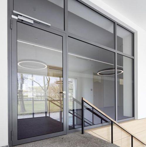 entry door / swing / steel / automatic