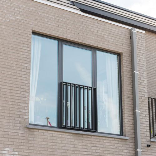 casement window / aluminum / double-glazed / thermally-insulated