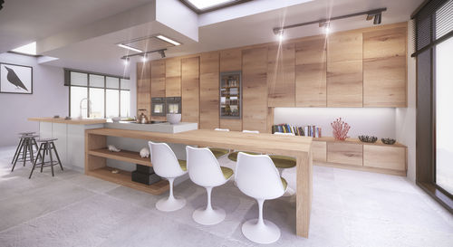 contemporary kitchen / wood veneer / solid wood / MDF