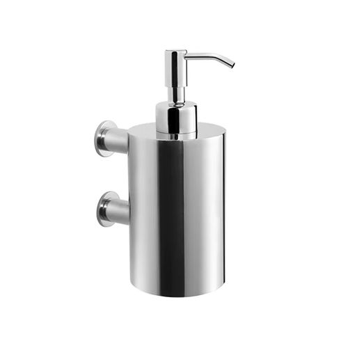 commercial soap dispenser / wall-mounted / brushed stainless steel / manual