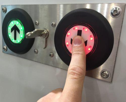 wall-mounted control panel