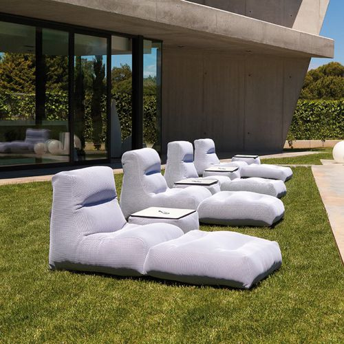 minimalist design sun lounger / fabric / garden / pool