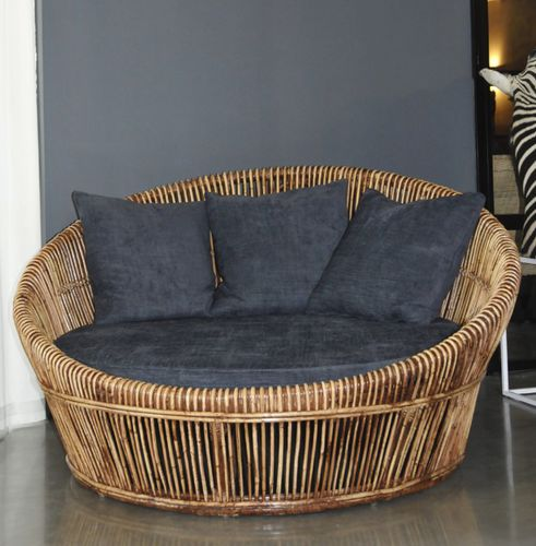 Round Sofa Rattan Round Sofa 130 Defleure Home Collection Contemporary Outdoor Rattan