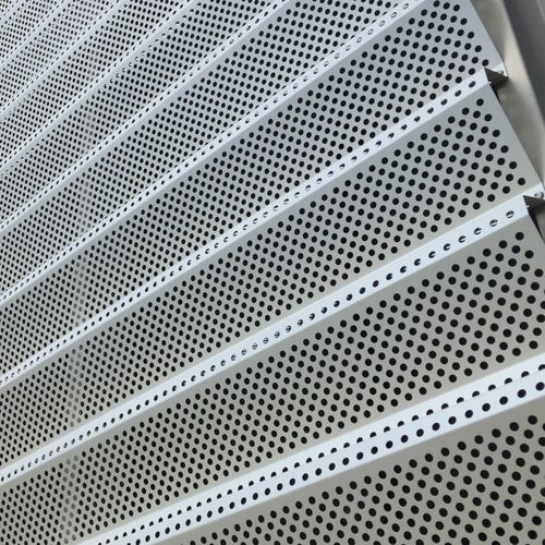 metal solar shading / for roofs / for facades / perforated