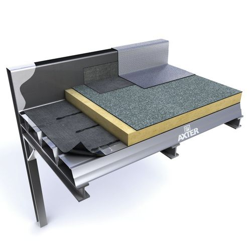flat roof waterproofing membrane / green roof / roll / with vapor barrier