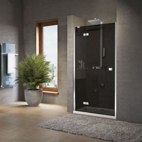 swing shower screen / for alcoves / glass / home