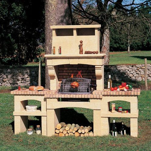 wood-burning barbecue