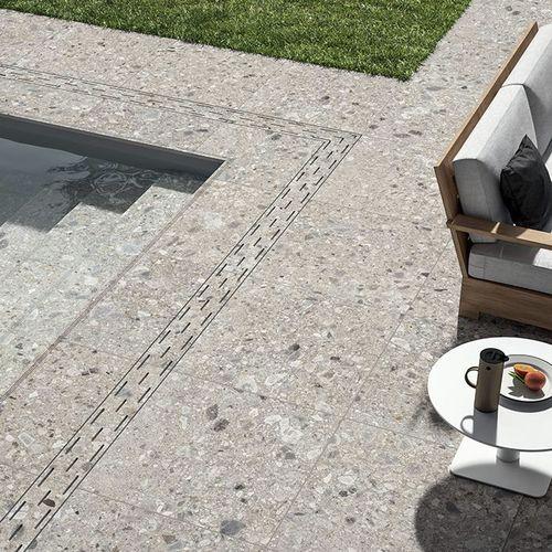 outdoor tile / floor / porcelain stoneware / 120x120 cm