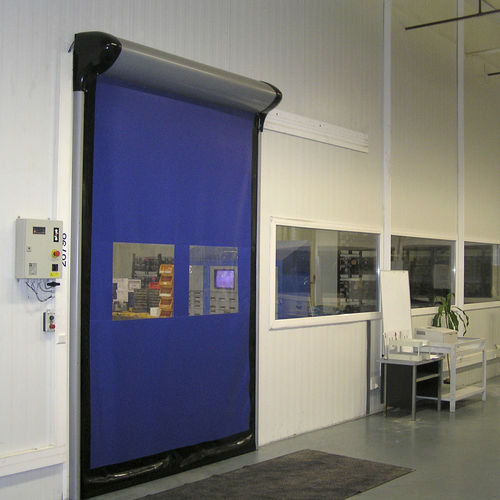roll-up industrial door / PVC / security / automatic