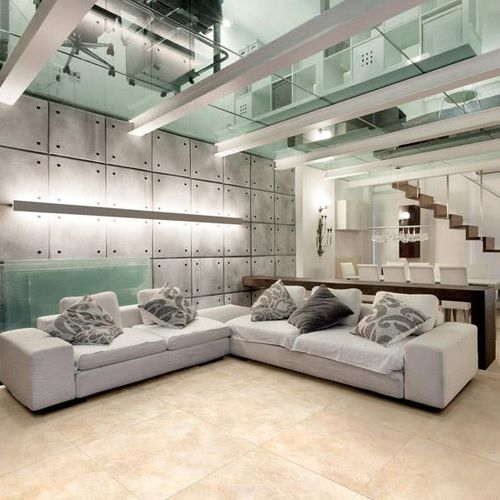 living room tile / wall / floor / porcelain stoneware