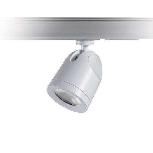 LED track light / round / cast aluminum / commercial