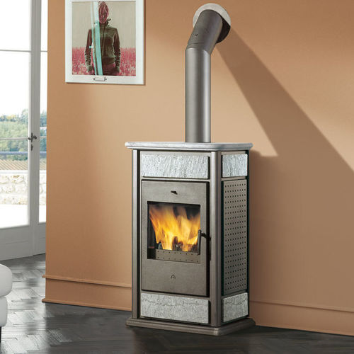 wood boiler stove / steel / cast iron / stone