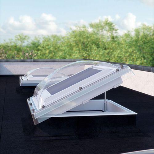 flat roof dome skylight