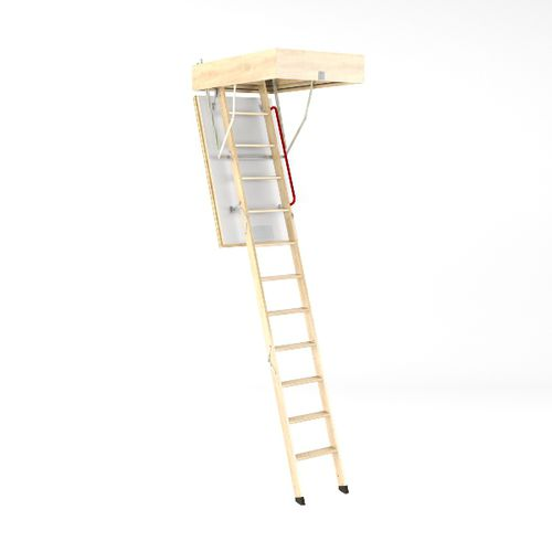 retractable ladder / wood