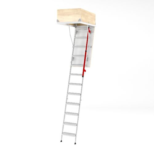 retractable ladder / metal