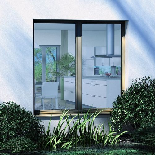 tilt-and-turn window / aluminum / triple-glazed / thermally-insulated