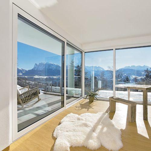 lift-and-slide patio door / aluminum / PVC / triple-glazed