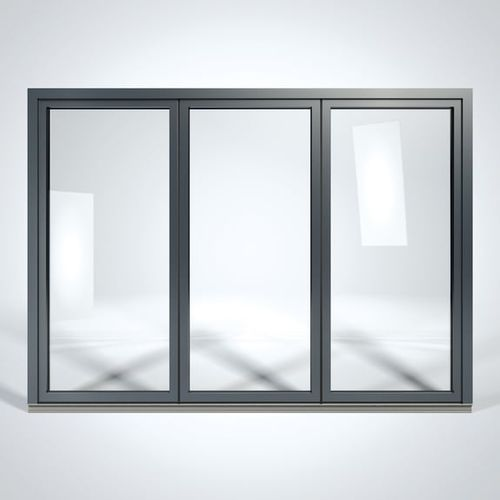 folding patio door / lift-and-slide / aluminum / triple-glazed