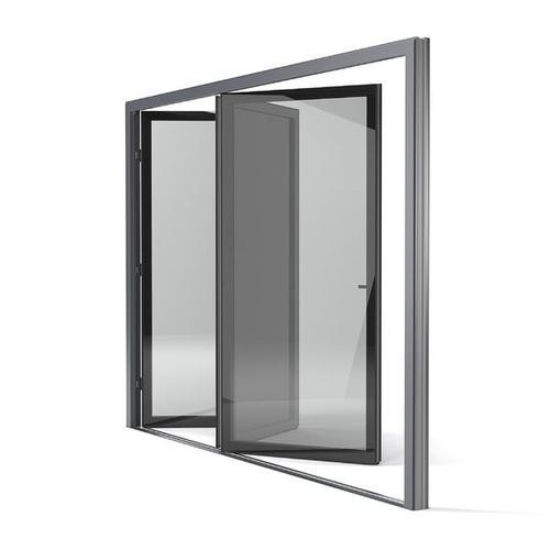 sliding patio door / folding / aluminum / triple-glazed