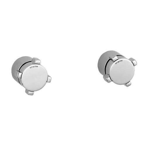 shower mixer tap / built-in / chromed metal / bronze