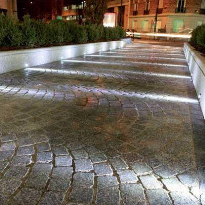 floor spotlight / recessed floor / outdoor / LED