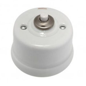 light switch / push-button / surface-mounted / double
