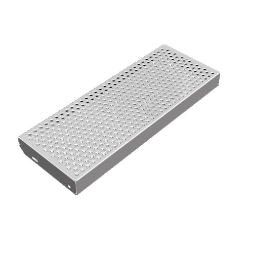 galvanized steel step / non-slip