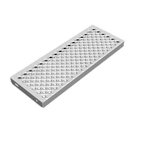 galvanized steel grating / for walkways / for staircases / for facades