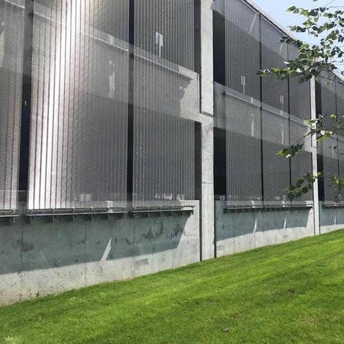 mesh cladding / stainless steel / textured / metal look