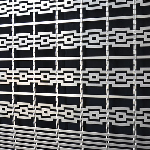 wire interior fitting mesh / for facade / cladding / solar shading
