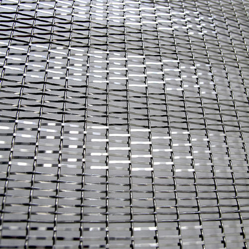 wire facade mesh / for ceilings / solar shading / stainless steel